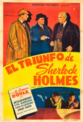"Movie Posters:Mystery, The Triumph of Sherlock Holmes (Monitor Pictures, 1935).Argentinean Poster (29"" X 43"").. ..."