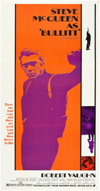 "Bullitt (Warner Brothers, 1968). Three Sheet (41"" X 81"")"