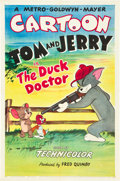 "Movie Posters:Animated, The Duck Doctor (MGM, 1952). One Sheet (27"" X 41"").. ..."
