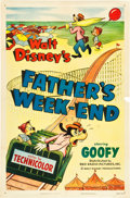 "Movie Posters:Animated, Father's Weekend (RKO, 1953). One Sheet (27"" X 41"").. ..."