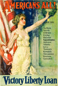 "Movie Posters:War, World War I Liberty Loan (US Government, 1919). Howard ChandlerChristy Poster (27"" X 40""). ""Americans All."". ..."