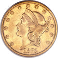 Liberty Double Eagles, 1873-CC $20 XF40 PCGS. Variety 1-A....