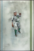 Baseball Collectibles:Others, Rube Waddell Original Oil Painting. ...