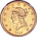 Liberty Eagles, 1839 $10 Type of 1838, Large Letters MS60 NGC....