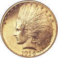 Indian Eagles, 1914-S $10 MS64 NGC....