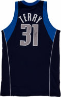 Basketball Collectibles:Uniforms, 2006-07 Jason Terry Game Worn, Signed Dallas Mavericks Jersey -With MeiGray Provenance!...