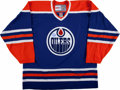Hockey Collectibles:Uniforms, Wayne Gretzky Signed Jersey. ...