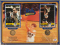 Basketball Collectibles:Others, Bill Walton and John Wooden Multi Signed Display. ...