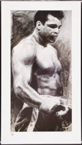 Boxing Collectibles:Autographs, Muhammad Ali Signed Lithograph. ...