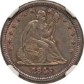 Seated Quarters: , 1845 25C AU58 NGC. NGC Census: (19/51). PCGS Population (8/41).Mintage: 922,000. Numismedia Wsl. Price for problem free NG...