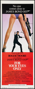 """Movie Posters:James Bond, For Your Eyes Only (United Artists, 1981). Insert (14"""" X 36""""). James Bond.. ..."""