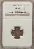 Seated Half Dimes: , 1856-O H10C AU50 NGC. NGC Census: (1/73). PCGS Population (4/52).Mintage: 1,100,000. Numismedia Wsl. Price for problem fre...