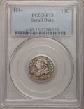 Bust Dimes: , 1814 10C Small Date Fine 15 PCGS. PCGS Population (1/23). NGCCensus: (2/40). Numismedia Wsl. Price for problem free NGC/P...