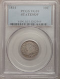 Bust Dimes, 1814 10C STATESOF VG10 PCGS. PCGS Population (1/8). (#4490).From The Douglas Bust Dime Collection....