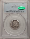 Bust Dimes: , 1820 10C STATESOF Fine 15 PCGS. CAC. PCGS Population (2/17).(#4494). From The Douglas Bust Dime Col...