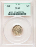 Proof Barber Dimes: , 1909 10C PR63 PCGS. PCGS Population (45/135). NGC Census: (30/172).Mintage: 650. Numismedia Wsl. Price for problem free NG...