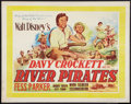 "Movie Posters:Adventure, Davy Crockett and the River Pirates (Walt Disney, 1956). BritishHalf Sheet (22"" X 28""). Adventure.. ..."