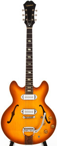 Musical Instruments:Electric Guitars, 1966 Epiphone Casino Sunburst Semi-Hollow Body Electric Guitar, #809524....