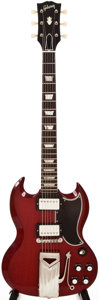 Musical Instruments:Electric Guitars, 1961 Gibson SG Les Paul Cherry Solid Body Electric Guitar, #15231....