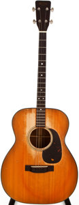 Musical Instruments:Acoustic Guitars, 1958 Martin 0-18T Natural Acoustic Tenor Guitar, #160761....