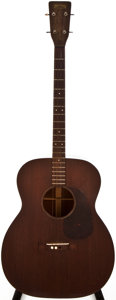 Musical Instruments:Acoustic Guitars, 1952 Martin 0-17T Natural Acoustic Tenor Guitar, #123612....