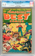 Golden Age (1938-1955):Superhero, America's Best Comics #14 (Nedor Publications, 1945) CGC FN+ 6.5 Off-white to white pages....