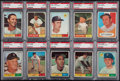 Baseball Cards:Lots, 1961 Topps Baseball Boston Red Sox PSA Mint 9 Collection (9). ...