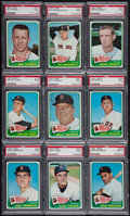 Baseball Cards:Lots, 1965 Topps Baseball Boston Red Sox PSA Mint 9 Collection (9) WithHigh Number. ...