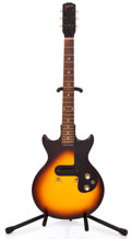 Musical Instruments:Electric Guitars, 1963 Gibson Melody Maker Sunburst Solid Body Electric Guitar#114646...