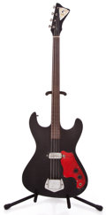 Musical Instruments:Electric Guitars, 1960s Kay Bass Black Electric Bass Guitar...