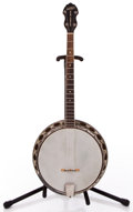 Musical Instruments:Banjos, Mandolins, & Ukes, Gretsch New Yorker Brown Tenor Banjo #530...