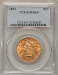Liberty Eagles, 1893 $10 MS63+ PCGS....
