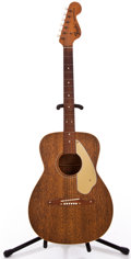 Musical Instruments:Acoustic Guitars, 1960s Fender Newporter Brown Acoustic Guitar #20302...