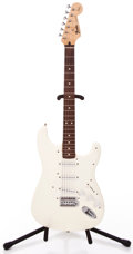 Musical Instruments:Electric Guitars, 1994 Fender Squire Stratocaster White Solid Body Electric Guitar#MN416674...