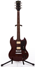 Musical Instruments:Electric Guitars, 1974 Gibson SG Cherry Solid Body Electric Guitar #771089...