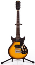 Musical Instruments:Electric Guitars, 1961 Gibson Melody Maker (D) Sunburst Solid Body Electric Guitar#39192...