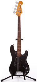 Musical Instruments:Electric Guitars, 1977 Fender Precision Bass Black Electric Bass Guitar #S751266...