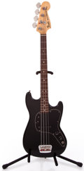 Musical Instruments:Electric Guitars, 1978 Fender MusicMaster Bass Black Electric Bass Guitar #S830938...