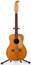 Musical Instruments:Acoustic Guitars, 1960s Fender Villager Natural 12 String Acoustic Guitar #23613...