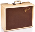Musical Instruments:Amplifiers, PA, & Effects, 1959 Gibson Gibsonette White Guitar Amplifier #112792...
