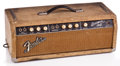 Musical Instruments:Amplifiers, PA, & Effects, 1964 Fender Bassman White Tolex Guitar Amplifier #NE...