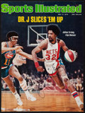 "Basketball Collectibles:Photos, Julius Erving Signed ""Sports Illustrated"" Cover...."