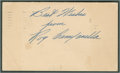 Baseball Collectibles:Others, 1948 Roy Campanella Signed Government Postcard - RookieSignature!...