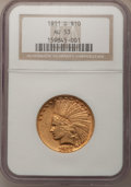 Indian Eagles, 1911-D $10 AU53 NGC....