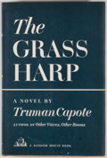Books:First Editions, Truman Capote. The Grass Harp. [New York]: Random House,[1951]. First edition, first printing in first state rough ...