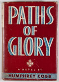 Books:First Editions, Humphrey Cobb. Paths of Glory. New York: Viking Press, 1935.First edition, first issue with no comments on rear pan...