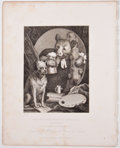 Antiques:Posters & Prints, William Hogarth, artist. Four Steel Engraved Prints From TheWorks of William Hogarth, Ca. 1861. London: London Prin...(Total: 5 Items)