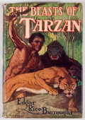 Books:Science Fiction & Fantasy, Edgar Rice Burroughs. The Beasts of Tarzan. New York:Grosset & Dunlap, [1916]. Early reprint edition withfrontispi...