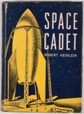 """Books:Science Fiction & Fantasy, Robert A. Heinlein. Space Cadet. New York: Charles Scribner's Sons, 1949. Later impression, lacking """"A"""". Octavo. Pub..."""
