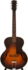 Musical Instruments:Acoustic Guitars, Late 1940s Gibson L-48 Sunburst Archtop Acoustic Guitar, #N/A....
